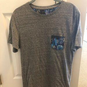 On the Byas Grey Pocket T-shirt Sz S
